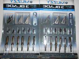 @NEW@ 2-- 6pk. Muzzy 3 Blade 100 Grain Broadheads & Free Pra