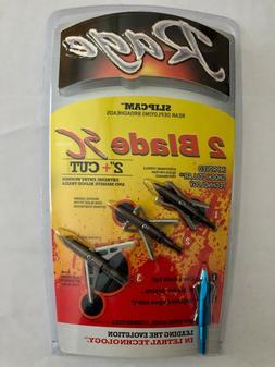 New Rage 2 Blade SC Broadhead 100-Grain , Silver R61000 Free