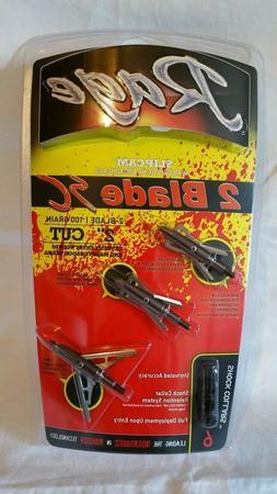 *NEW*Rage 2 Blade Slip Cam 100 gr. Broadhead Rear Deploying
