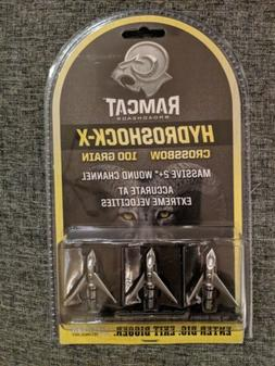 New Ramcat Broadheads Hydroschock X Crossbow 100 Grain