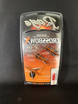 New Rage Crossbow X - 2 Blade Mechanical Broadhead 3 Pack @