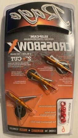 New Rage Crossbow X - 2 Blade Mechanical Broadhead 3 Pack @