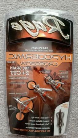 "New Rage Hypodermic 2 Blade Crossbow 100 Gr 2"" Cut Broadhead"