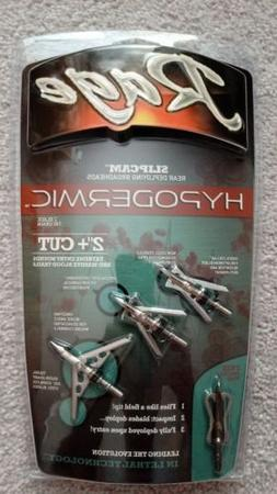 "NEW Rage Hypodermic SlipCam 2 Blade 100 Gr 2"" Cut Broadheads"