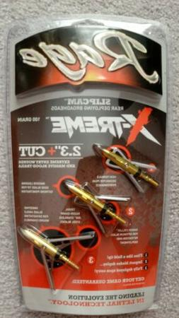 "NEW Rage X-TREME Extreme SC Expandable 2 Blade 100 Gr 2.3"" C"