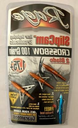 New Rage 2 Blade Crossbow Broadhead  R37000 Free Shipping
