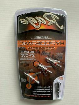 """Rage R39600 Hypodermic Crossbow 100 Gr  2"""" Cut Broadheads w/"""