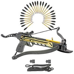 KingsArchery Self-Cocking Crossbow Bundle with Adjustable Si