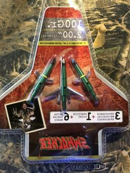 Swhacker Set of 3 - 100 Grain 2inch Cut Broadheads Turkey De