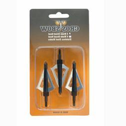Sharp 3-blade Hunting Broadheads for Crossbow Arrows - 3/pac