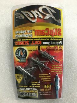 "Rage SlipCam Broadheads 100 Gr. 2-Blade 2"" Cutting Dia. 3PK"