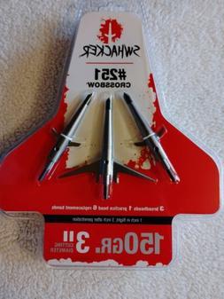 Swhacker SWH00251 Mechanical Broadhead 3in Cut Crossbow 150g