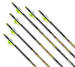 Carbon Express T1323 Mayhem Hunter Fletched Carbon Arrows wi