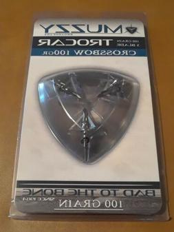 """Muzzy Trocar Crossbow Broadheads 100Gr 3 Blade 1&3/16"""" Cut 3"""