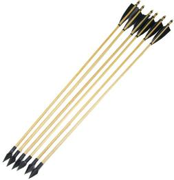 """33"""" Archery Wooden Arrows with Colored Black Scutellate Turk"""