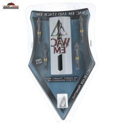 Wac 'Em Broadheads 150 Grain 2 Blade Hunting Archery ~ New