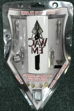 Wac Em Broadheads 4 Blade Deep Six 100 Gr. - Brand New