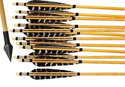 Bcslinek Archery Wooden Target Arrows Hunting Arrows with Me