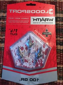 Bloodsport Wraith Broadhead System Turkey Body Shot 100 grai