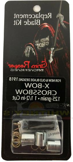 "Grim Reaper X-Bow Replacement Blade Kit 125Gr, 1 1/2"" Cut"